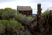 100425 Old Cabin Amid Sagebrush In High Chaparral