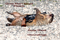 100841100 Guns Don't Shoot People Guns Shoot Groundhogs