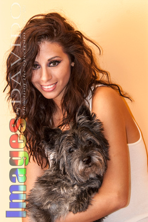 105431 - Sexy Woman Holding Her Pet Terrier