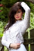 105425 - Dark Haired Woman Outdoors